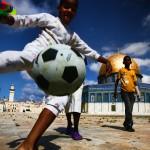 A bola rolando solta na Palestina (Crédito: Caio Vilela)