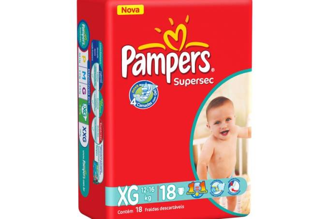 Pampers Supersec XG 18 unidades