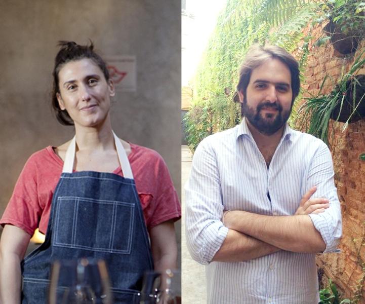 Paola e o sócio Goldenberg: apenas sete empanadas (Fotos: Lucas Lima e divulgação)