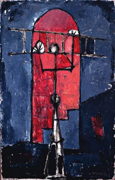 Composição 2, óleo de Paolo Rissone: tela foi feita em 1953