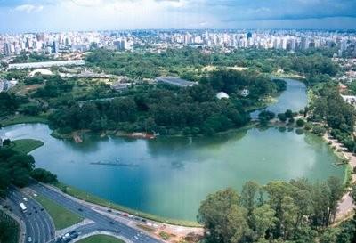 Área verde: Parque do Ibirapuera visto de cima