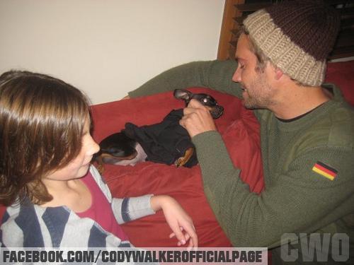 Paul Walker com a filha, Meadow