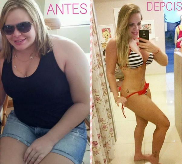 A ex-BBB Paulinha: quase 40kg eliminados com a dieta Dukan