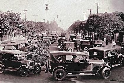 Em 1927: trânsito nos dois sentidos