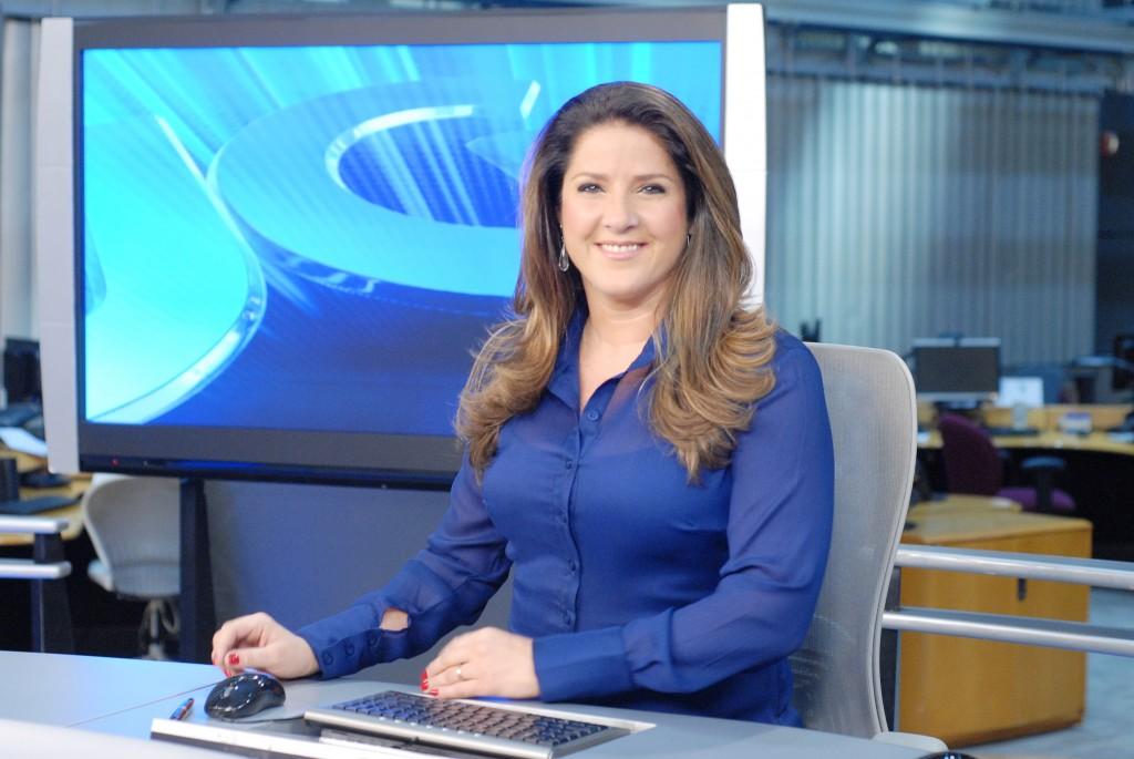 Christiane Pelajo está na bancada do Jornal da Globo desde 2005 (Divulgação Globo/Zé Paulo Cardeal)