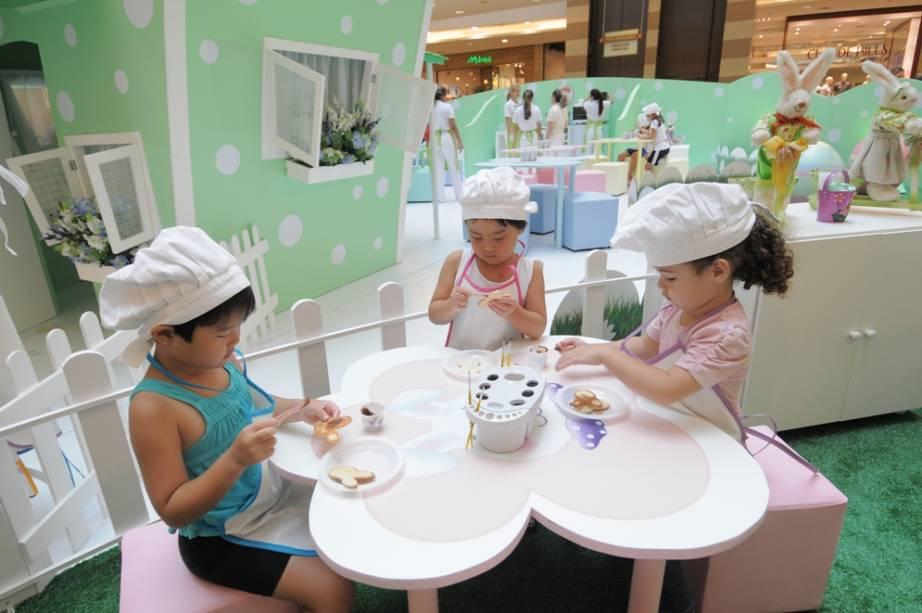 Em oficina no Shopping Anália Franco, as crianças vão se sentir verdadeiros cozinheiros
