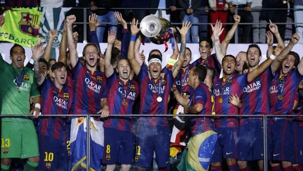 Time de peso: vencedor da Liga dos Campeões (Foto: Miguel Ruiz/FCB)