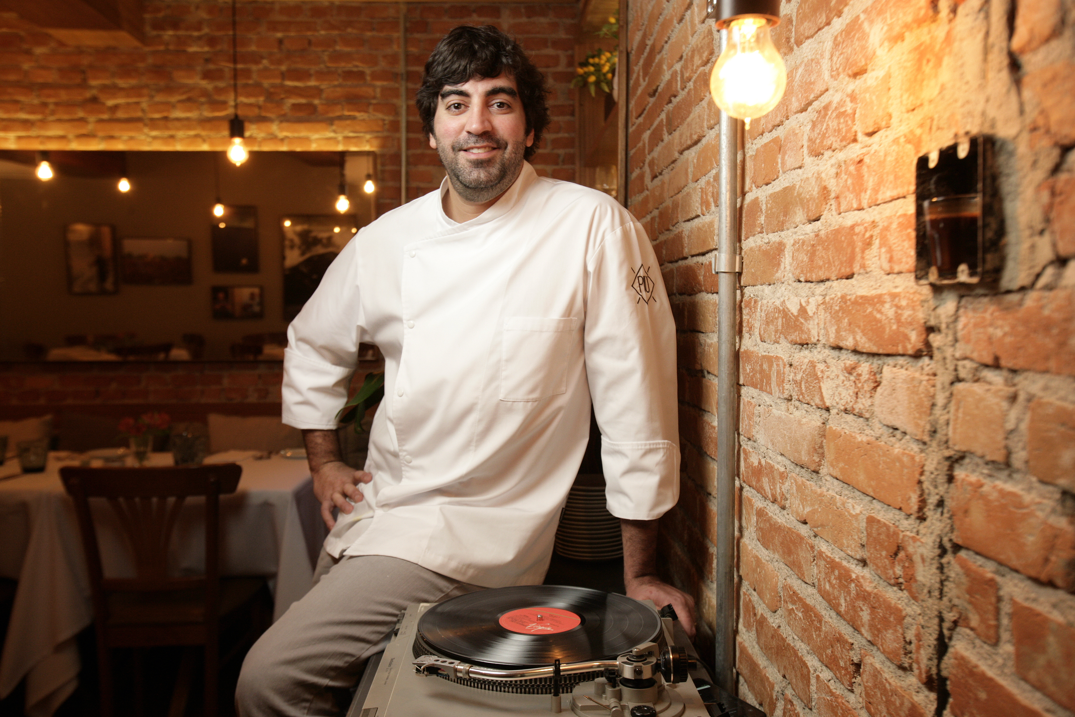 Marcelo Laskani, chef do restaurante Più, em Pinheiros.