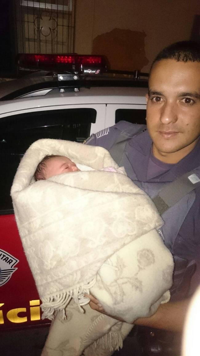policial militar bebe abandonado higienópolis