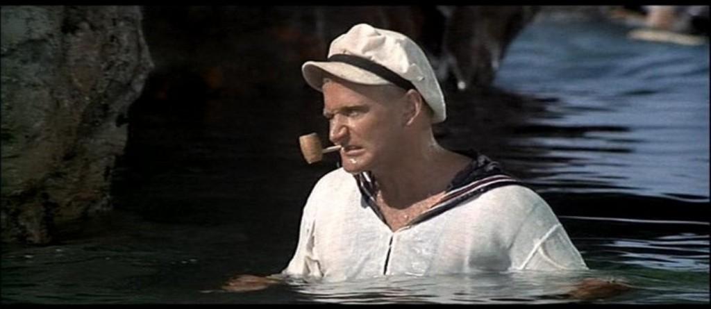 1980 - Em Popeye, seu primeiro papel no cinema