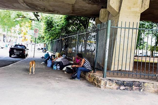 Praça 14 Bis moradores de rua
