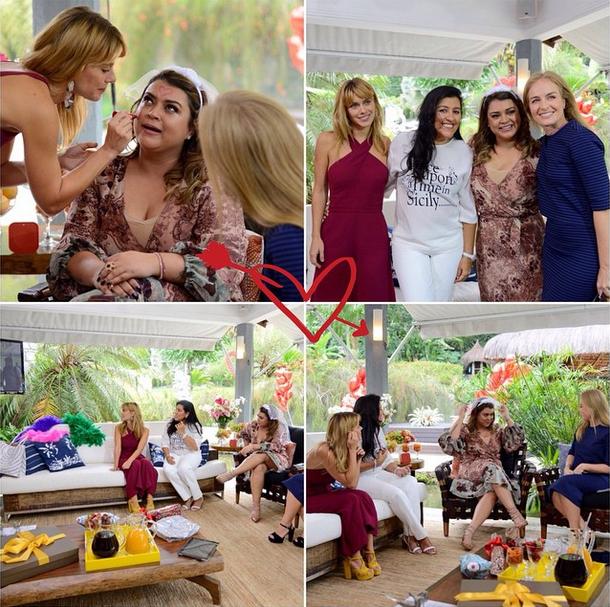 Preta Gil com as madrinhas Carolina Dieckmann, Angélica e Regina Casé (Foto: Reprodução/Instagram)