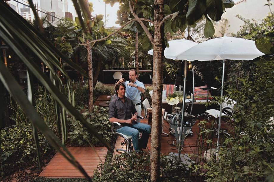 O salão do Marcos Proença: projeto do paisagista Hanazaki