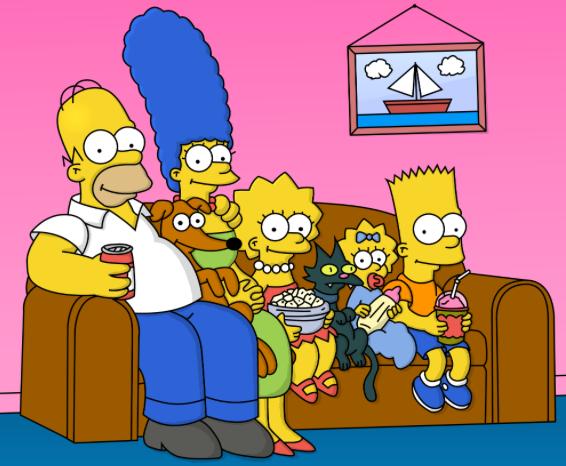 O quadro de barquinho da sala dos Simpsons