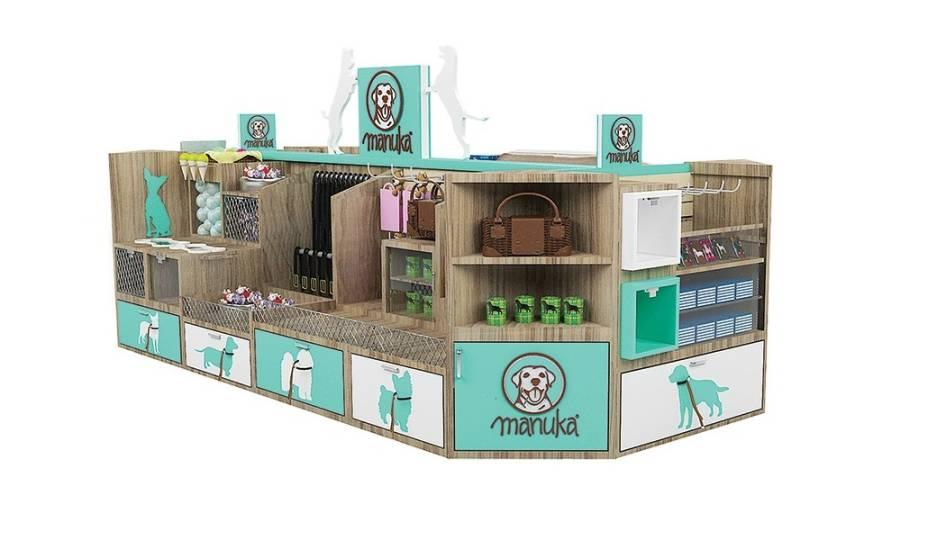 A butique especializada em produtos para pets