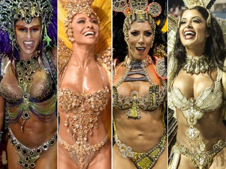 Gracyanne Barbosa, Sabrina Sato, Tati Minerato e Aline Riscado foram algumas das musas que desfilaram em São Paulo. Qual sua preferida? Vote
