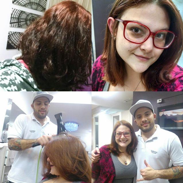 O passo a passo do corte de cabelo (Foto: Reprodução/Instagram)