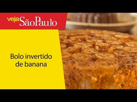 Receita: bolo invertido de banana