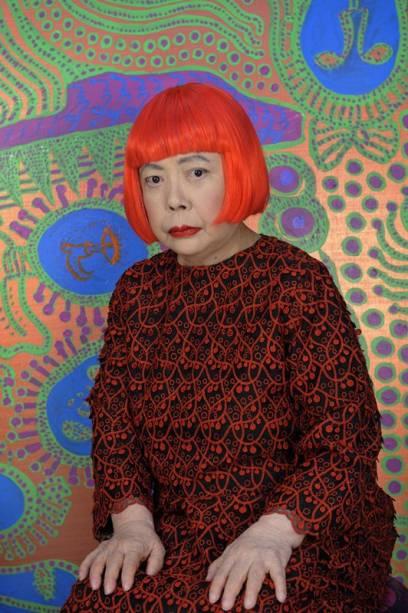 Infinita Obsessão traz mais de 100 obras da artista Yayoi Kusama, como Retrato (2013)