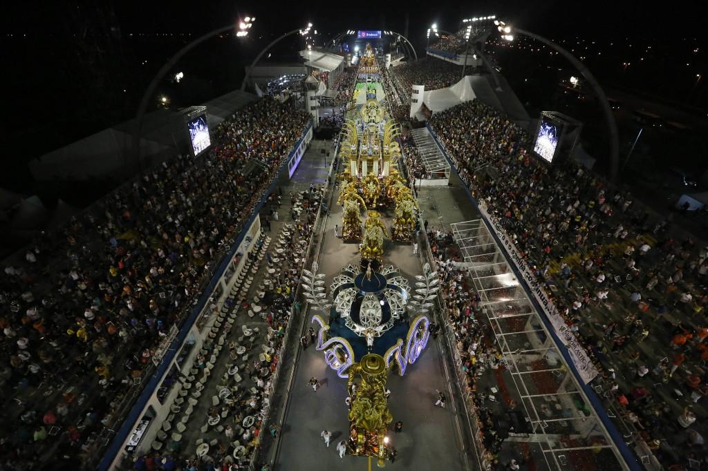 Escola de samba Vai-Vai, vencedora do Carnaval de 2015 (Foto: Robson Fernandes/Liga SP? Divulgação)