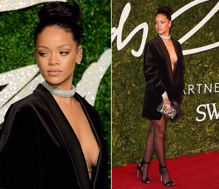 """Rihanna durante o """"British Fashion Awards"""" vestindo Stella McCarteney (Foto: Reprodução/Instagram)"""