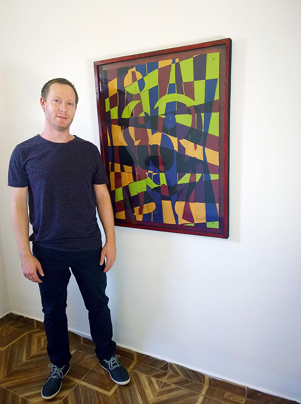 Franzão:  descobriu o talento para arte na terra de João de Deus