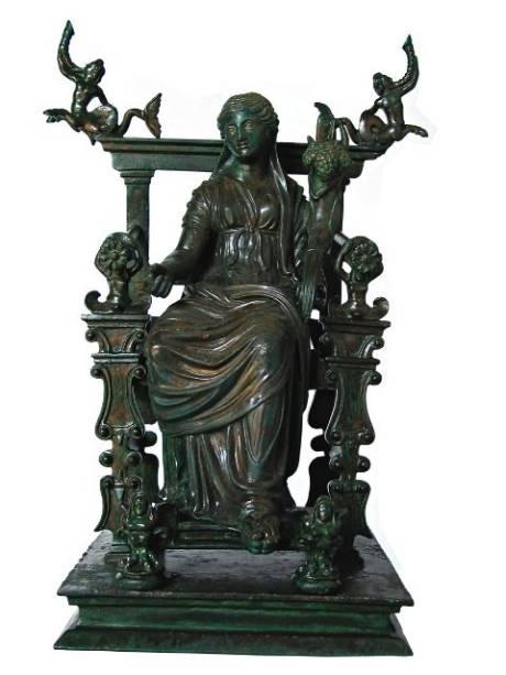 Estátua da deusa Fortuna: a obra pertence ao Museu Nacional de Nápoles