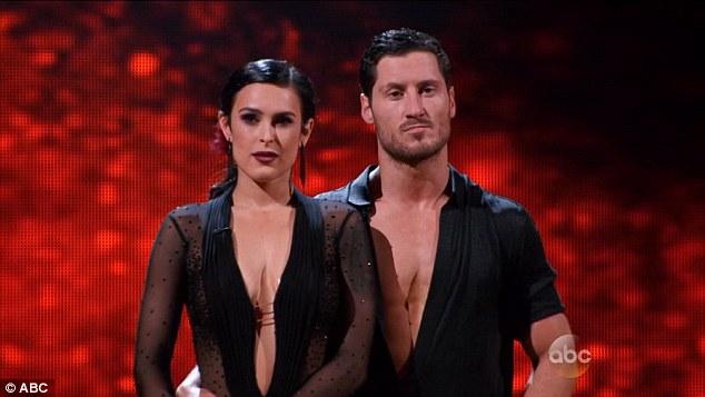 Rumer Willis e seu parceiro no Dancing With Stars