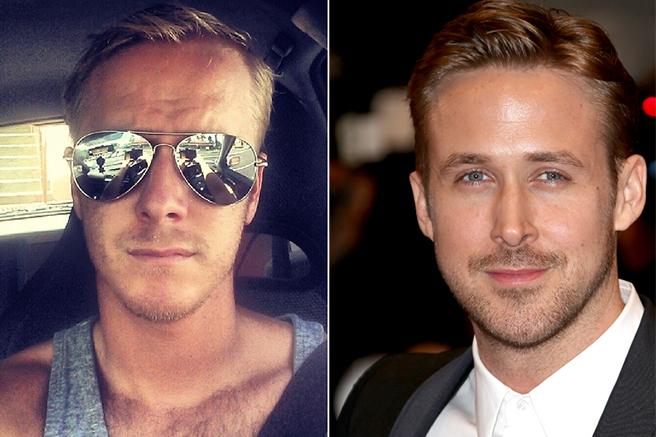 Ok, o sósia tacou um óculos escuros na cara, mas, mesmo assim, ficou a cara de Ryan Gosling