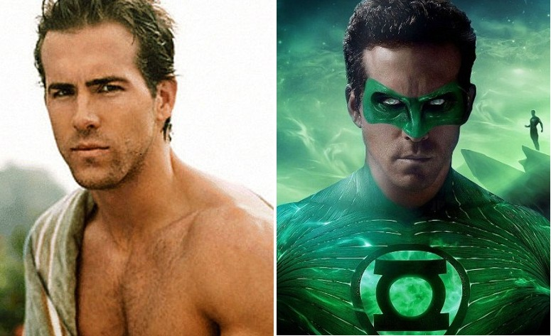 Ryan Reynolds na pele do Lanterna Verde