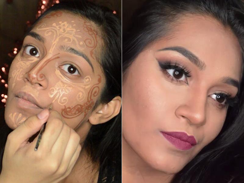 A maquiadora e artista de henna Sahur Saleim mostra sua criação: o #HennaCotour