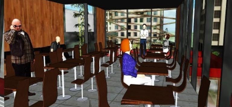 Visual do futuro salão  (Projeto: Marcos Cruz)