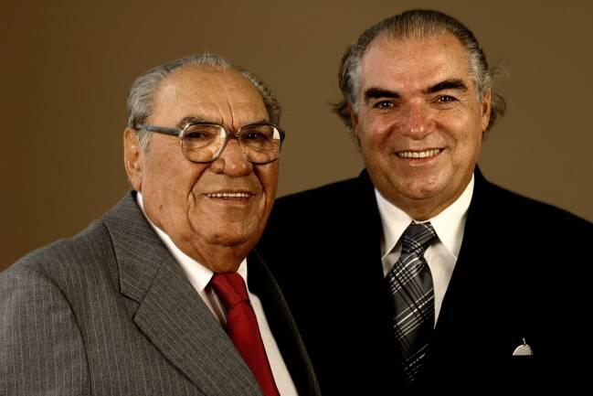Samuel Klein, fundador e presidente da rede de lojas Casas Bahia, e Michael Klei