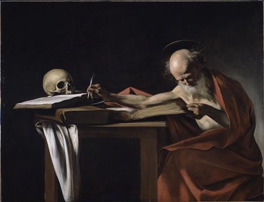 """""""São Jerônimo que Escreve"""": a tela faz parte da exposição de Caravaggio, no Masp"""