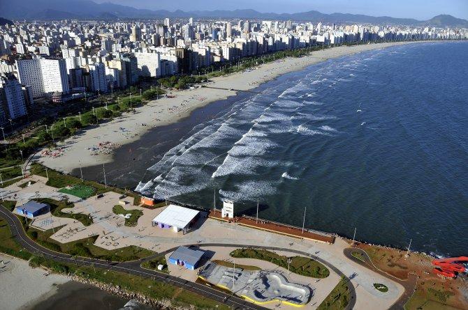 Santos é um dos destinos recorrentes dos paulistanos (Divulgação/SETUR)