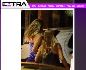 A filha de Xuxa, de apenas 16 anos, se afasta quando nota a presença de fotógrafos. Foto: Reprodução Jornal Extra