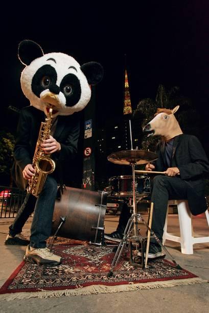 A dupla da Sax in the Beats: jam session animal na Avenida Paulista