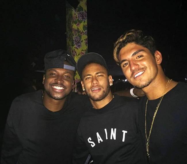Thiaguinho, Neymar e Gabriel Medina