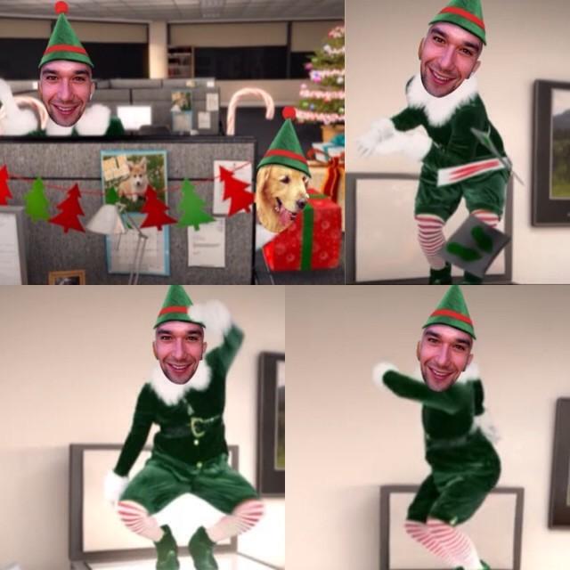 Sérgio Marone bancou o duende para desejar Feliz Natal aos fãs