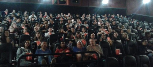 Os convidados aprovaram o filme ao fim da Sessão Vejinha