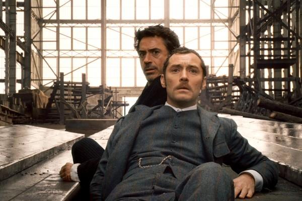 Robert Downey Jr e Jude Law estão no filme Sherlock Holmes