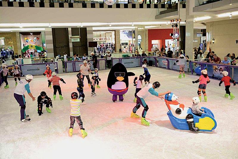 Pistas de patinação para as férias