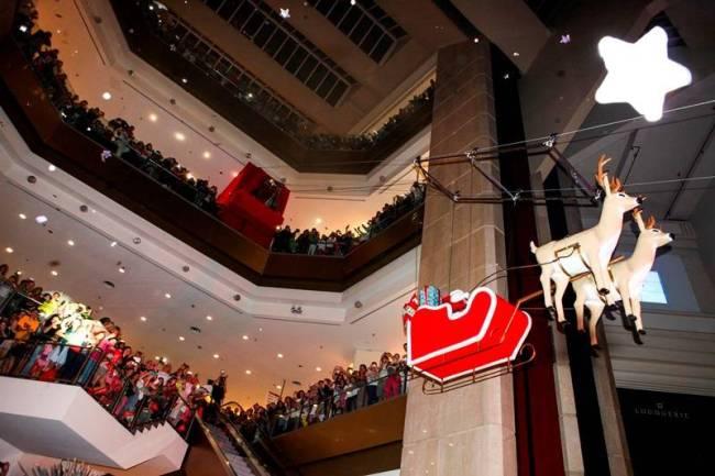 Decoração de Natal e Papai Noel - Shopping Eldorado