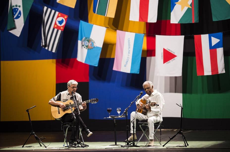 Caetano e Gil: show da turnê 'Dois Amigos, Um Século de Música' (Foto: Felipe Cotrim/Veja.com)