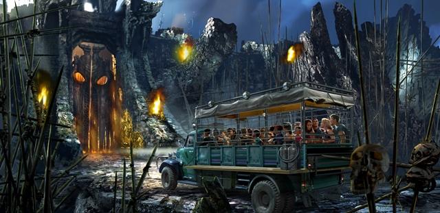 O veículo está prestes a entrar na caverna (foto: divulgação)