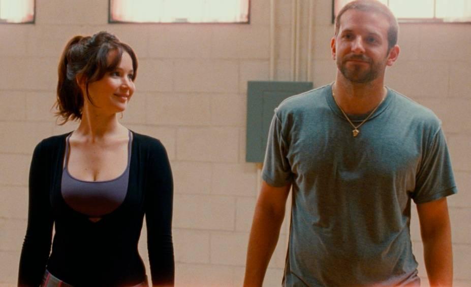 JenniferLawrence e Bradley Cooper em O Lado Bom da Vida: atuação esfuziante