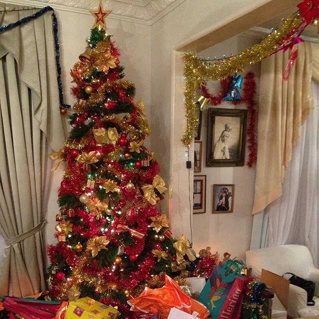 A decoração natalina da atriz Sophie Charlotte