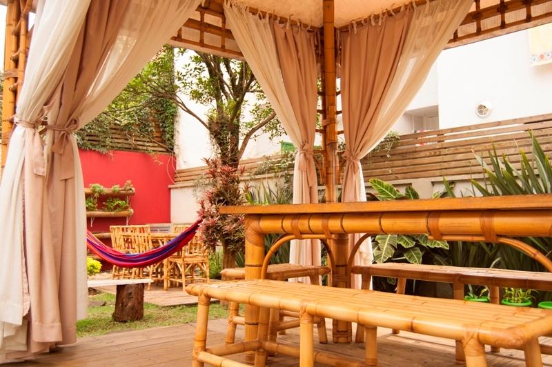 Jardim do Espaço Surya, um spa vegano e participante do Spa Week 2013