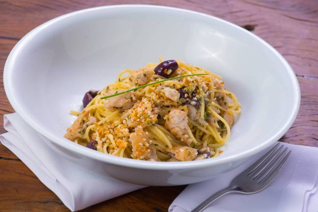 Serafina - espaguete com bacalhau