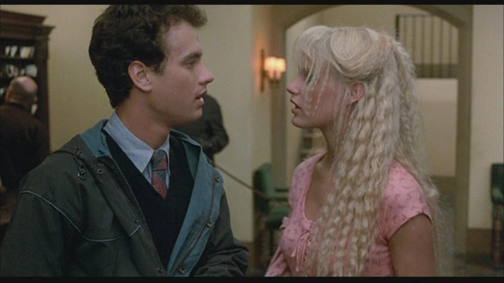 Tom Hanks e Daryl Hannah: casal de jovens em Splash